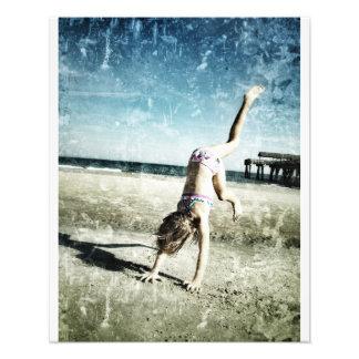 Peyton Hits The Beach Art Photo