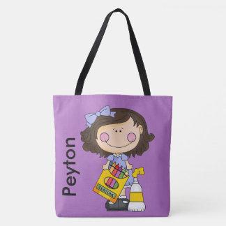 Peyton Loves Crayons Tote Bag