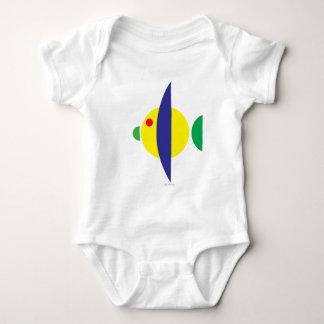 Pez amarillo baby bodysuit