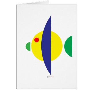 Pez amarillo greeting cards
