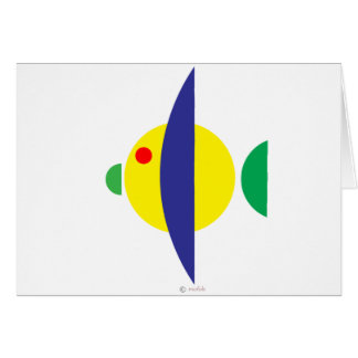 Pez amarillo greeting card