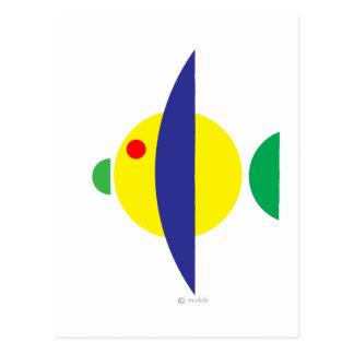 Pez amarillo postcards