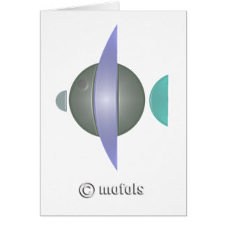 Pez azul greeting card