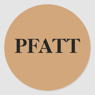 PFATT- Primitive Folk Art Trinkets and Treasures Classic Round Sticker