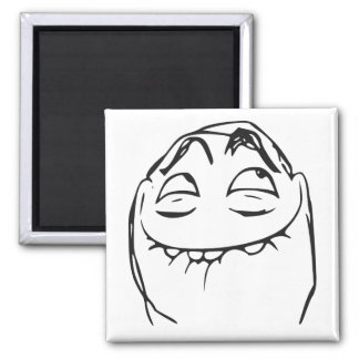 PFFTCH Laughing Rage Face Comic Meme Square Magnet