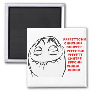 PFFTCH Laughing Rage Face Comic Meme Square Magnet
