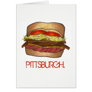 PGH Pittsburgh Pennsylvania Sandwich Foodie PA Card