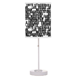 PH&D Metropolitan City Table Lamp Black
