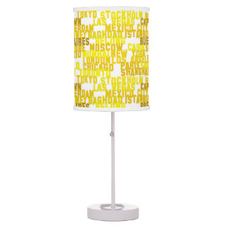 PH&D Metropolitan City Table Lamp Yellow