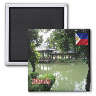 PH - Philippines - Manila - Chinese Garden Square Magnet