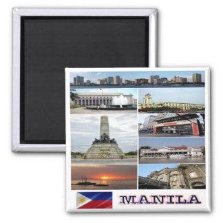 PH - Philippines - Manila - Collage Mosaic Magnet