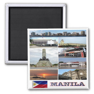 PH - Philippines - Manila - Collage Mosaic Square Magnet