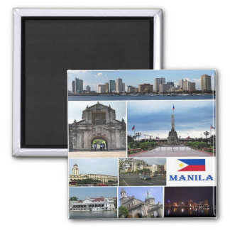 PH - Philippines - Manila - Collage Mosaic Square Magnet