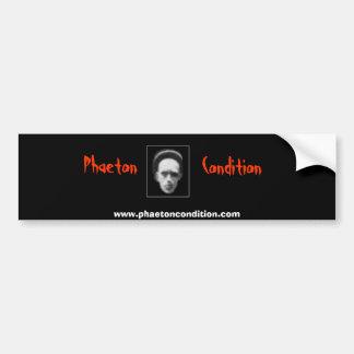 Phaeton Condition Bumber Sticker Bumper Sticker