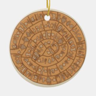 Phaistos disc ceramic ornament