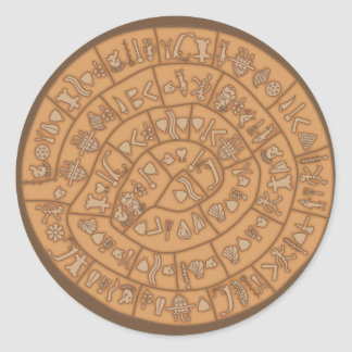 Phaistos disc classic round sticker