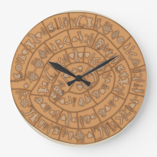 Phaistos disc large clock