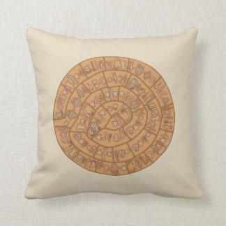 Phaistos disc throw pillow