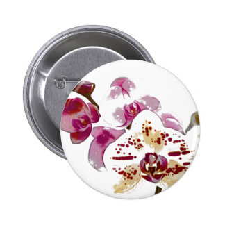 Phalaenopsis Orchid Flower Bouquet 2 Inch Round Button