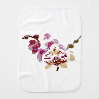 Phalaenopsis Orchid Flower Bouquet Burp Cloth