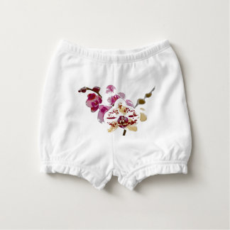 Phalaenopsis Orchid Flower Bouquet Diaper Cover