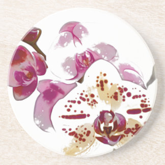 Phalaenopsis Orchid Flower Bouquet Drink Coaster