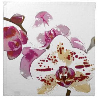 Phalaenopsis Orchid Flower Bouquet Napkin