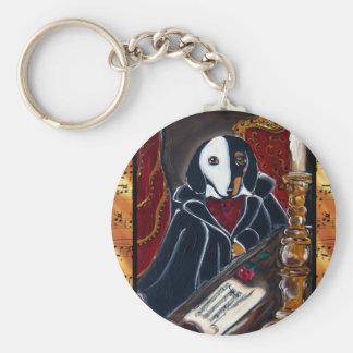 Phantom Dachshund Basic Round Button Keychain