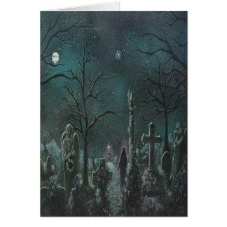 Phantom Graveyard Halloween Card