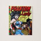 Phantom Lady 17 Vintage Comic Book Matt Baker Jigsaw Puzzle