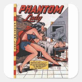 Phantom Lady and the Black Light Square Sticker