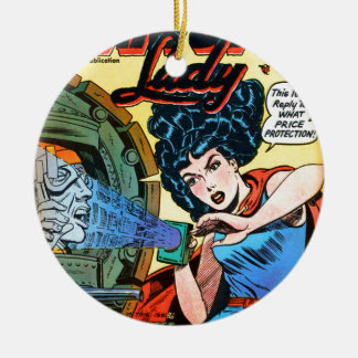 Phantom Lady -- Meanest Men in the World Ceramic Ornament