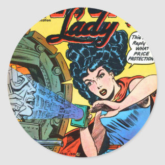 Phantom Lady -- Meanest Men in the World Classic Round Sticker