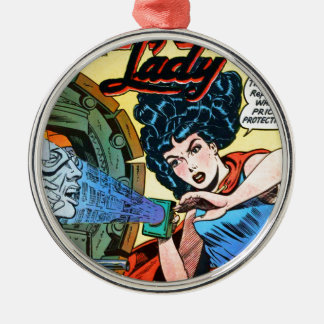 Phantom Lady -- Meanest Men in the World Metal Ornament