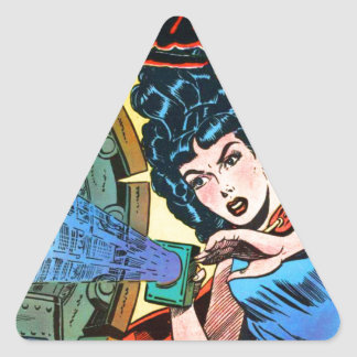 Phantom Lady -- Meanest Men in the World Triangle Sticker