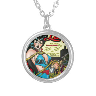 Phantom Lady Silver Plated Necklace