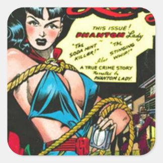 Phantom Lady Square Sticker