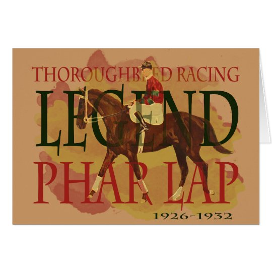 Phar Lap - Thoroughbred Horse Racing Legend Card