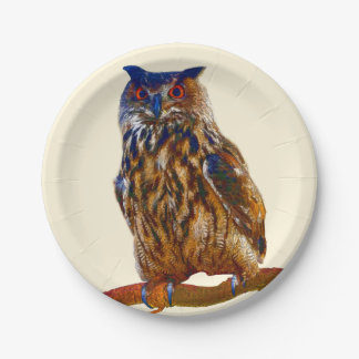 Pharaoh Eagle Owl Paper Plate