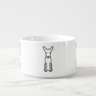 Pharaoh Hound Dog Cartoon Chili Bowl