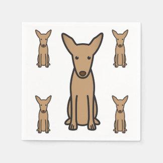 Pharaoh Hound Dog Cartoon Disposable Napkin