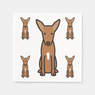 Pharaoh Hound Dog Cartoon Paper Napkins