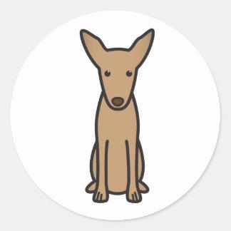 Pharaoh Hound Dog Cartoon Round Sticker