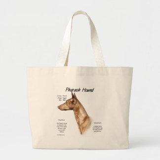 Pharaoh Hound History Design Large Tote Bag