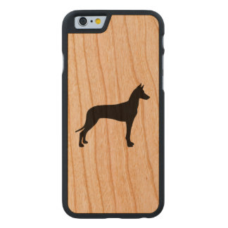 Pharaoh Hound Silhouette Carved Cherry iPhone 6 Case
