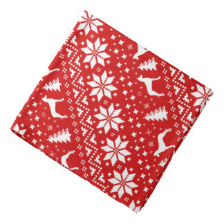 Pharaoh Hound Silhouettes Christmas Pattern Red Bandana