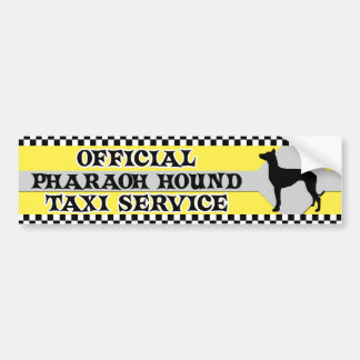 Pharaoh Hound Taxi Service Bumper Sticker