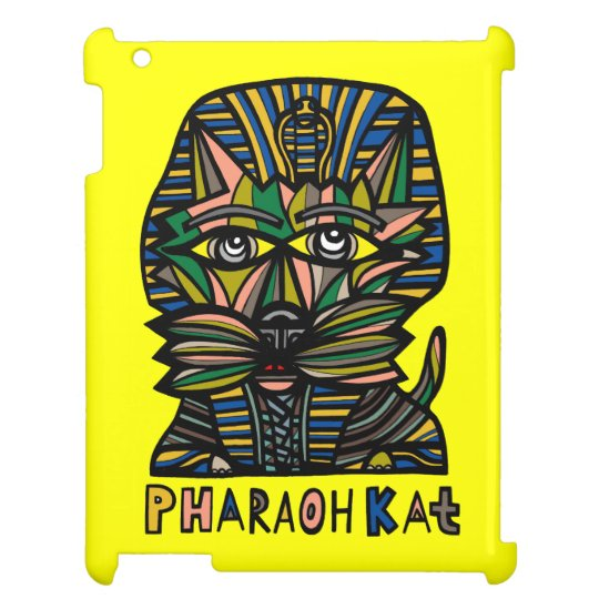 """Pharaoh Kat"" 631 Art iPad Case"