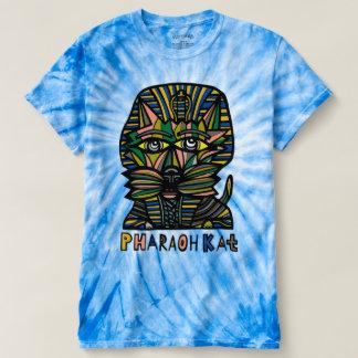 """Pharaoh Kat"" BuddaKats Men's Cyclone Tie-Dye T-shirt"