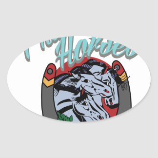 Pharaohs Horses Oval Sticker